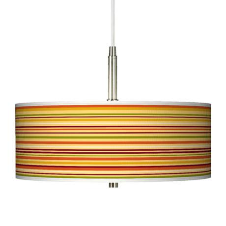 Stacy Garcia Harvest Stripe Giclee Pendant Chandelier