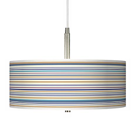 "Stacy Garcia Stripe Giclee 16"" Wide Pendant Chandelier"