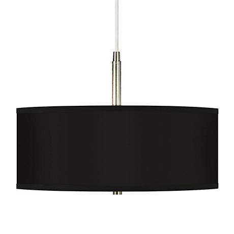All Black Giclee Pendant Chandelier