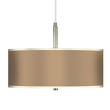 Mesa Tan Giclee Brushed Steel Contemporary Pendant Light