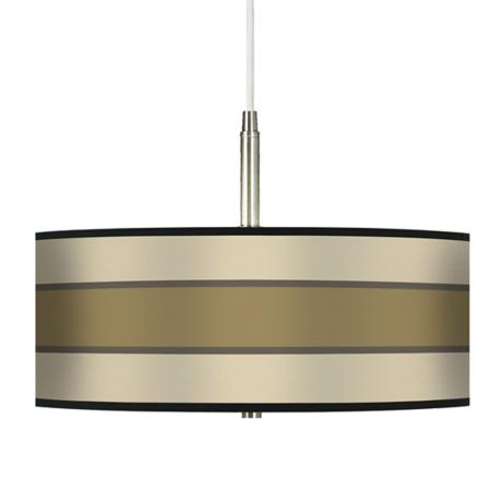 "Tones of Beige 16"" Wide Giclee Pendant Light"