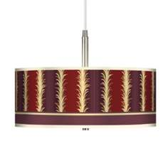 Stacy Garcia Lexington Stripe Cinnamon Giclee Pendant Chandelier