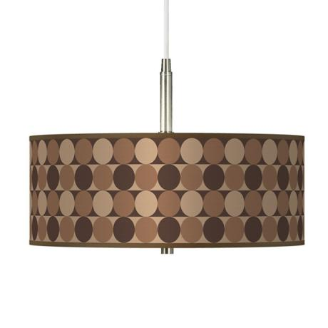 "Sienna Grey Circles Brushed Nickel 16"" Wide Pendant Light"