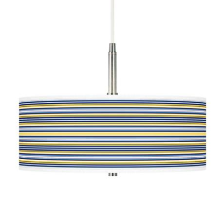 Charleston Stripes Giclee Pendant Chandelier