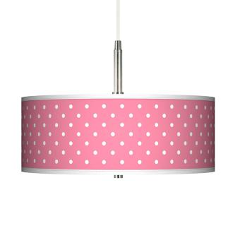 Pink Polka Dot Chandelier