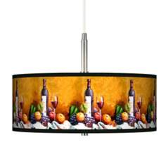 Wine and Fruit Giclee Pendant Chandelier