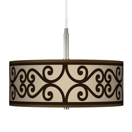 Cambria Scroll Giclee Pendant Chandelier