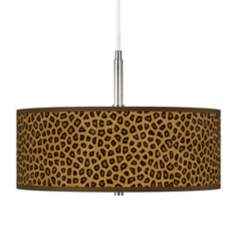 Safari Cheetah Giclee Pendant Chandelier