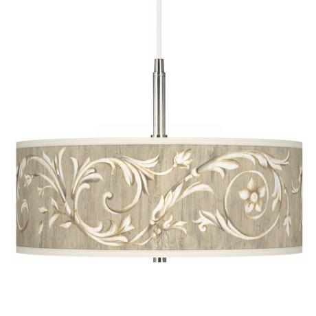 Laurel Court Giclee Pendant Chandelier