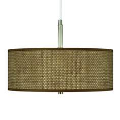 "Interweave Pattern Shade 16"" Wide Pendant Chandelier"