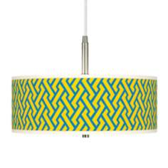 Yellow Brick Weave Giclee Pendant Chandelier