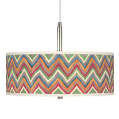 Canyon Waves Giclee Pendant Chandelier