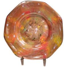 Dale Tiffany Doheny Art Glass Charger