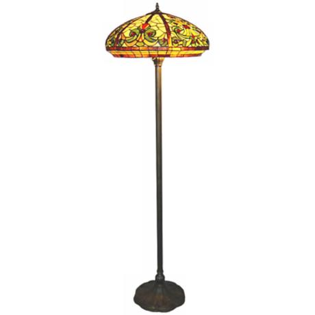 Baroque Tiffany Glass Floor Lamp
