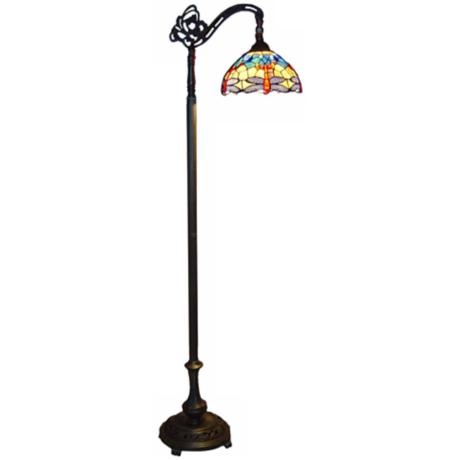 Dragonfly Tiffany Glass Floor Lamp