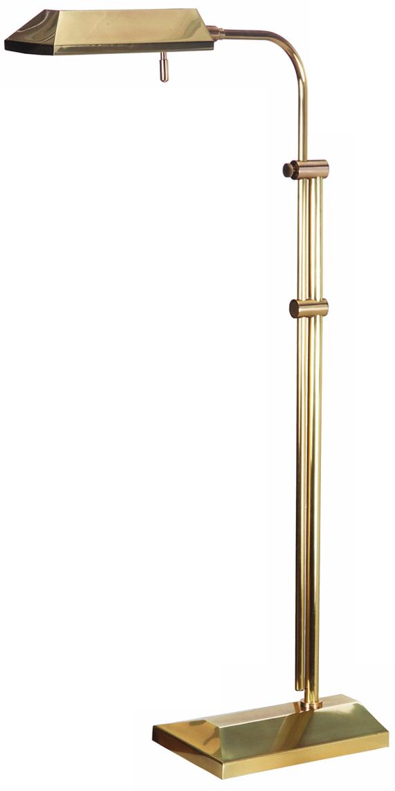 Topper Antique Brass Adjustable Pharmacy Floor Lamp (H0271)
