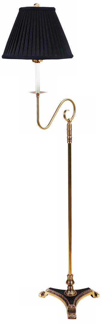 Barrett Antique Brass Swing Arm Bridge Floor Lamp (H0272)
