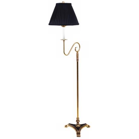 Barrett Antique Brass Swing Arm Bridge Floor Lamp
