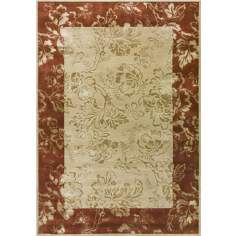 Molossian Collection Beige and Rust Area Rug