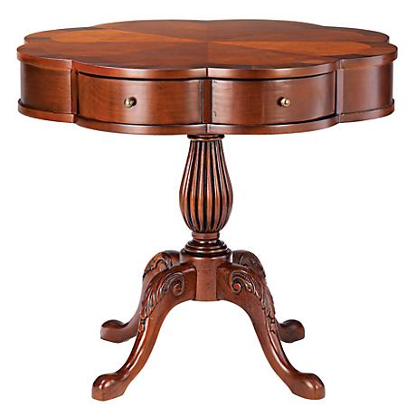 Plantation Cherry Clover Pedestal Table