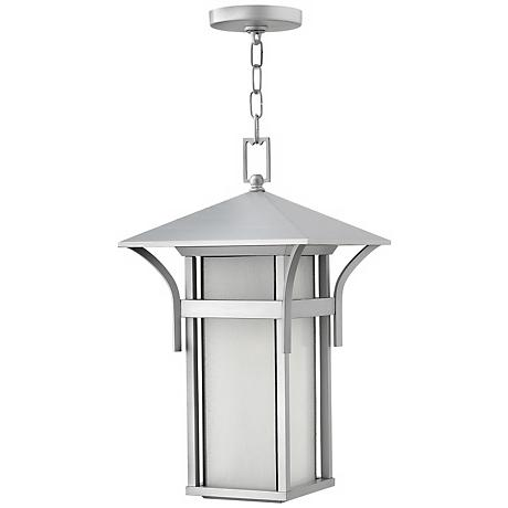 "Hinkley Harbor Titanium 19"" High Outdoor Hanging Light"