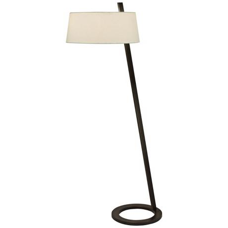 Sonneman Lina Black Brass Floor Lamp