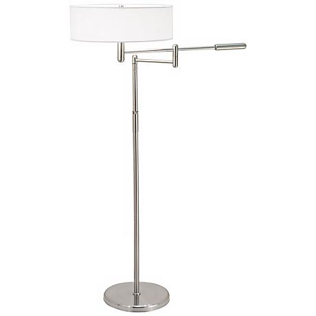 Sonneman Perno Satin Nickel Swing Arm Floor Lamp