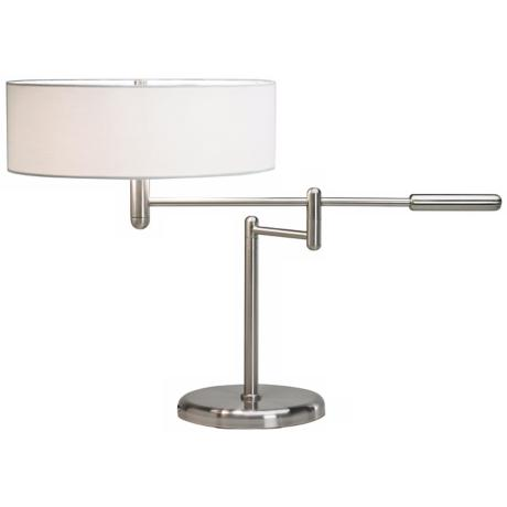 Sonneman Perno Satin Nickel Swing Arm Desk Lamp