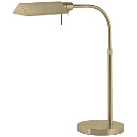 Sonneman Tenda Satin Brass Pharmacy Desk Lamp