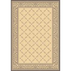 Portico Collection Natural and Brown Area Rug