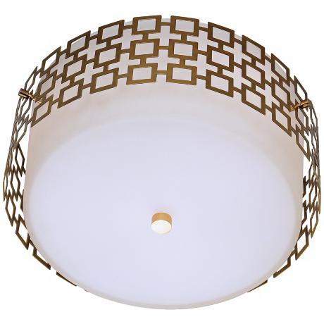 jonathan adler parker 15 1 4 wide brass ceiling light. Black Bedroom Furniture Sets. Home Design Ideas