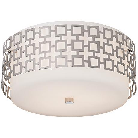 jonathan adler 15 1 4 quot wide nickel ceiling light