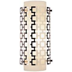 "Jonathan Adler Parker Collection 15"" High Nickel Wall Sconce"