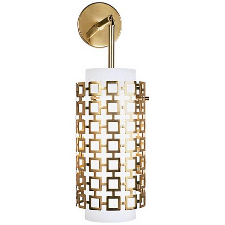 "Jonathan Adler Parker 22 1/4"" High Brass Sconce"