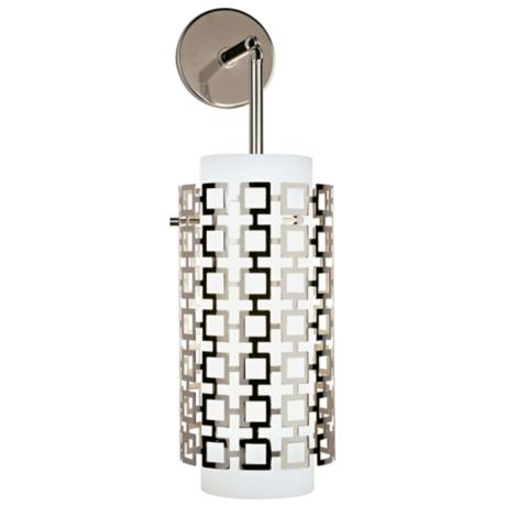 "Jonathan Adler Parker 22 1/4"" High Nickel Sconce"