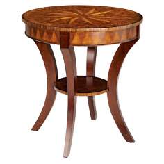 Ericson Pecan Finish Round Side Table