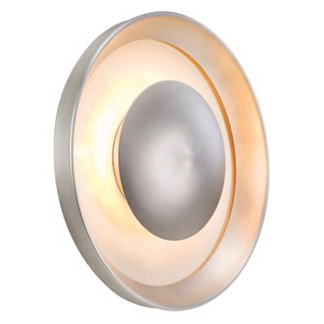 "Eclipse Satin Aluminum 12"" Wide ADA Outdoor Wall Light"