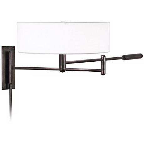 Sonneman Perno Black Brass Plug-In Swing Arm Wall Lamp