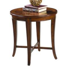 Traditional Ash Burl Round End Table
