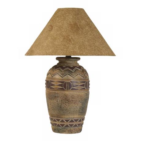 Paprika Hide Shade Southwestern Table Lamp