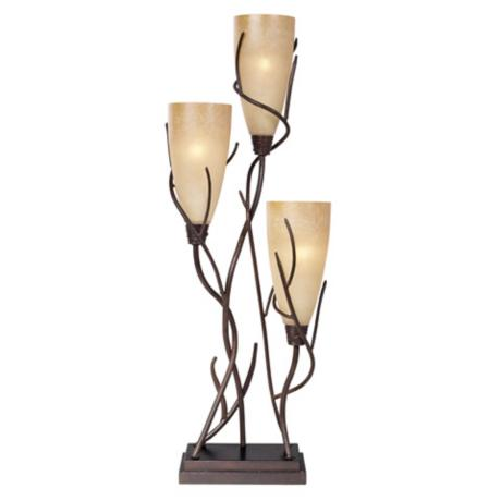 El Dorado 3-Light Uplight Table Lamp - #H1650 | LampsPlus.