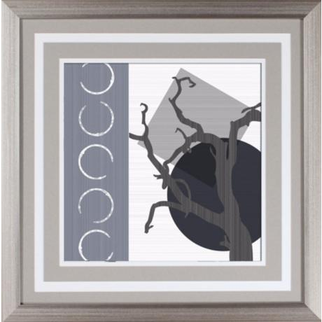 "Grey Tree II Under Glass 18"" Square Wall Art"