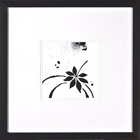 "Leaf Silhouette I Under Glass 20"" Square Wall Art"