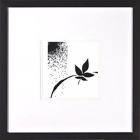 "Leaf Silhouette IV Under Glass 20"" Square Wall Art"