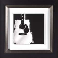 "Strings I Under Glass 20"" Square Wall Art"