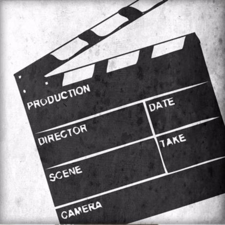 "Film Slate Canvas 12"" Square Wall Art"
