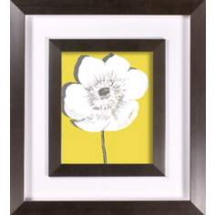 "Yellow Blooms II Print Under Glass 21"" High Wall Art"