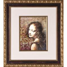"Classic Beauty I Print Under Glass 20 1/4"" High Wall Art"