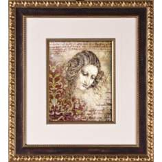 "Classic Beauty II Print Under Glass 20 1/4"" High Wall Art"