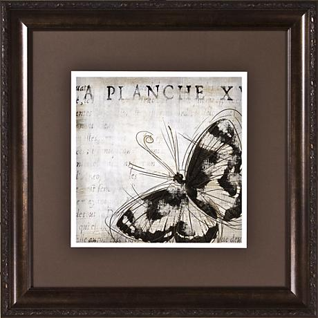 "Butterfly Renderings II Under Glass 19 1/2"" Square Wall Art"
